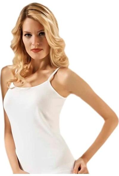 Tutku 3'lü Paket 0135 Pamuk Kadın Atlet - Beyaz - 6
