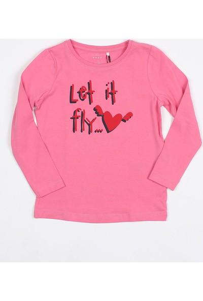 Name It Kız Çocuk Baskılı Uzunkol Sweatshirt