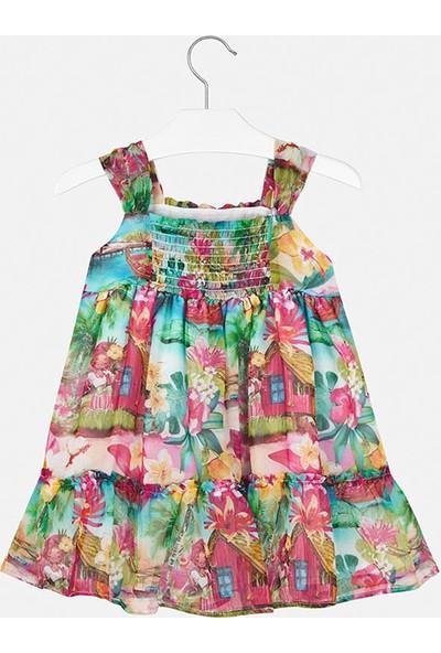 Mayoral Kız Çocuk Çiçek Baskılı Şifon Elbise