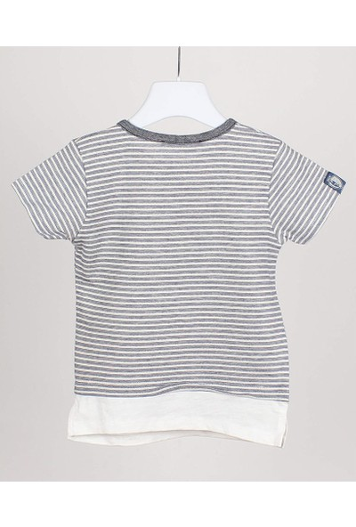 Jack Lions Erkek Çocuk Önü Düğmeli Çizgili T-Shirt