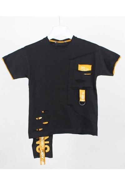 Jack Lions Erkek Çocuk Lazer Kesimli Kısa Kol T-Shirt