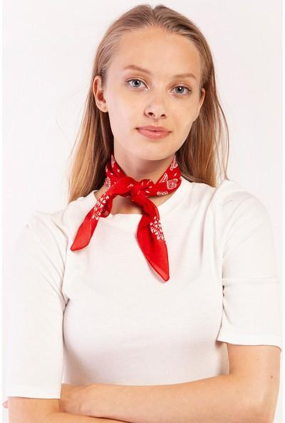 Akel Kadın Kırmızı Bandana