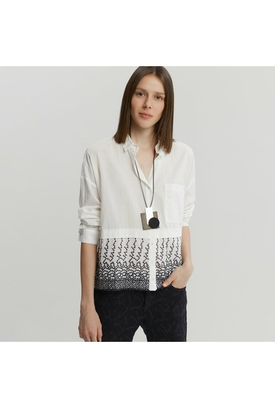 Yargıcı Kadın Cep Detaylı Gömlek