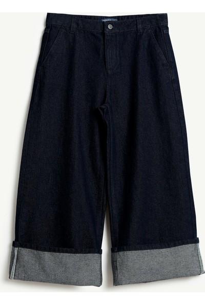 Yargıcı Kadın Bol Kesim Denim Pantolon
