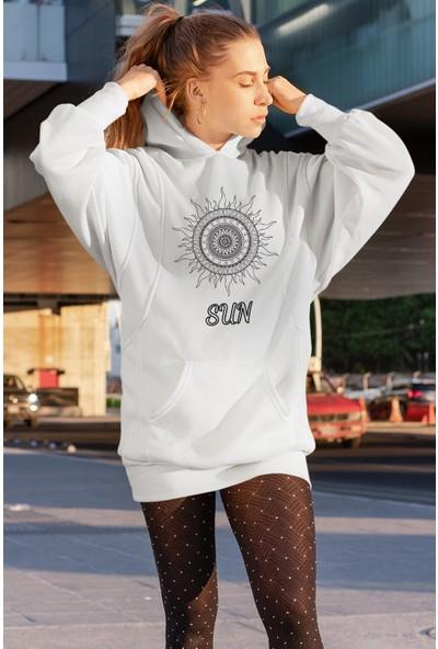 Angemiel Wear Motifli Güneş Sweatshirt