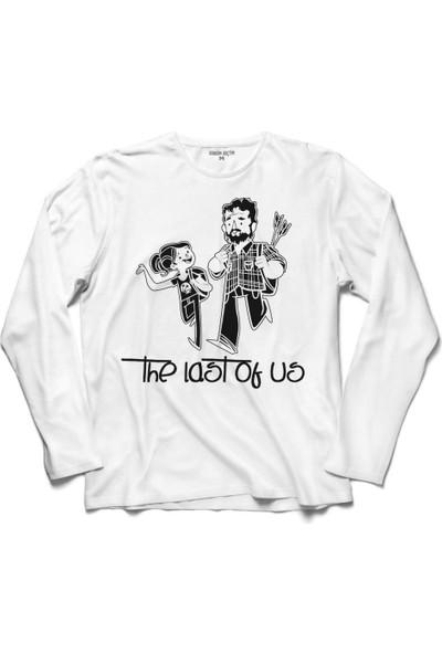 Kendim Seçtim The Last Of Us Joel Vs Elite Silüet Logo Uzun Kollu Sweatshirt