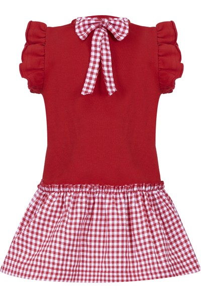 Bleu Lapin Baby Lily Red Elbise Kırmızı 9 - 12 Ay