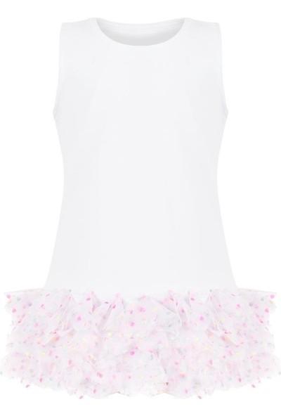 Bleu Lapin Baby Rainbow White Elbise Beyaz 12 - 18 Ay