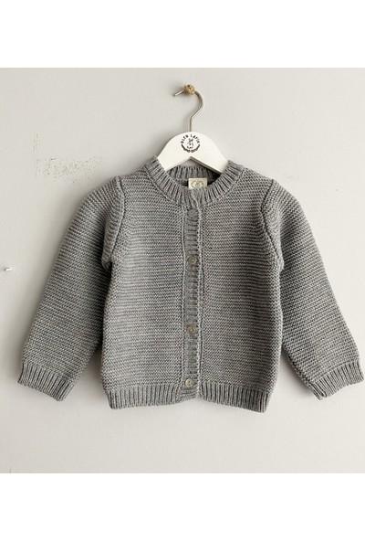 Bleu Lapin Baby Grey Cardigan Hırka Gri 6 - 9 Ay