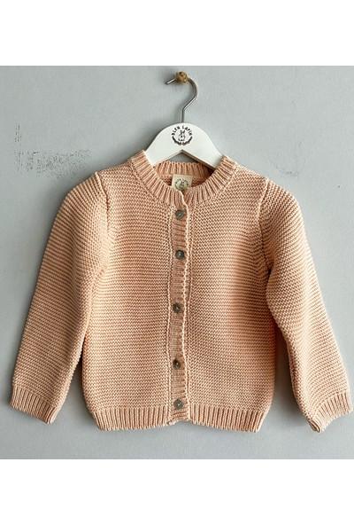 Bleu Lapin Baby Pink Cardigan Hırka Somon 6 - 9 Ay