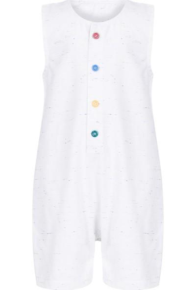 Bleu Lapin Baby Colorfull Tulum Beyaz 3 - 6 Ay