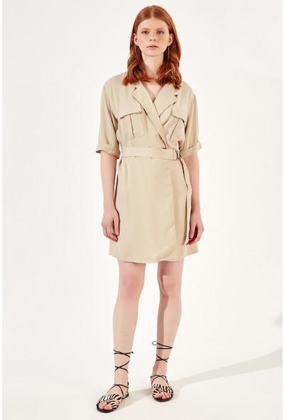 Manche Bej Kadın Gömlek Elbise Mk20S163002