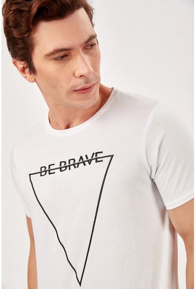 Manche Beyaz Erkek T-Shirt Me20S214560