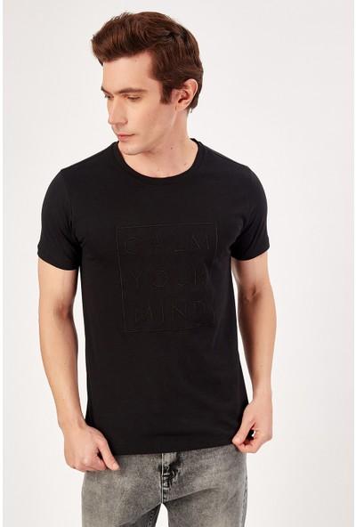 Manche Siyah Erkek T-Shirt Me20S214878