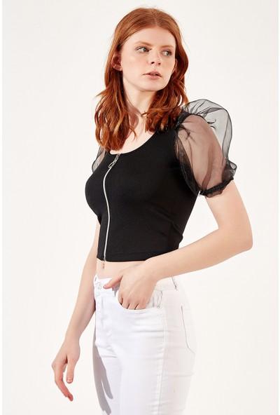 Manche Siyah Kadın Bluz Mk20S173763