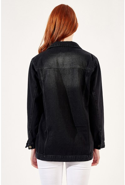 Manche Siyah Kadın Ceket Mk20S478009