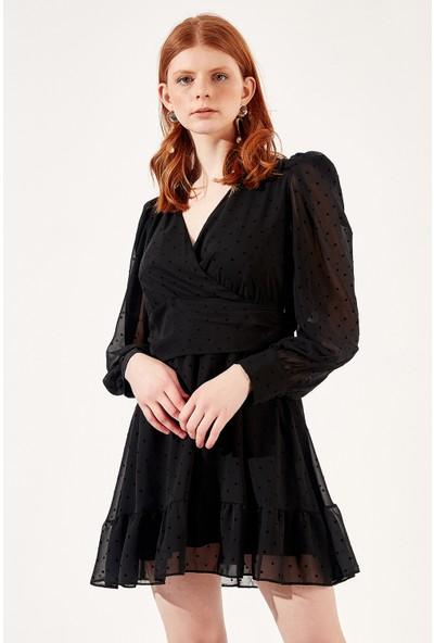 Manche Siyah Kadın Elbise Mk20S283197