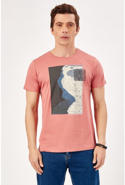 Manche Violet Erkek Baskılı Nakişli T-Shirt Me20S214880