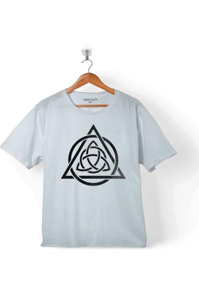 Kendim Seçtim Trıquetra Trıangle Yaşam Ölüm Başlangıç Yeniden Çocuk T-Shirt