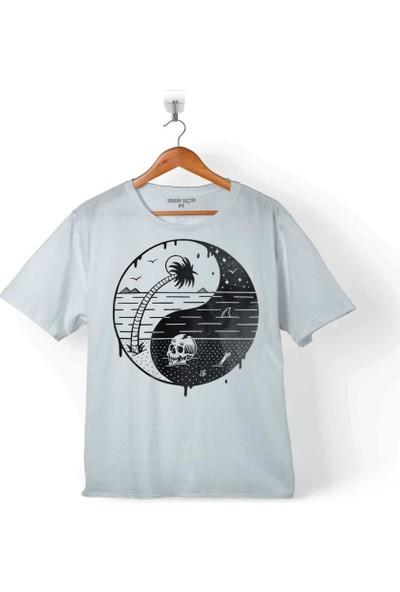 Kendim Seçtim Ying Yang Doğa Günü Çevre Kirliliği Ölüm Skull Çocuk T-Shirt