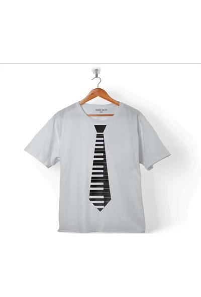 Kendim Seçtim Kravat Piyano Pıano Tıe Suit Up Çocuk T-Shirt