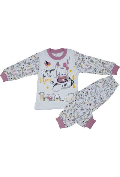 Süper Mini Uçan Tavşan Modelli Pijama Takımı