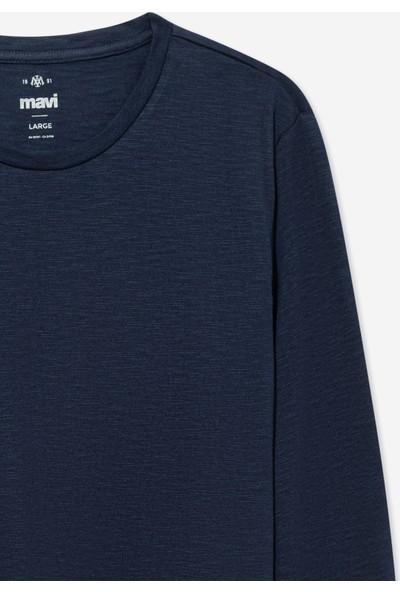 Mavi Erkek Uzun Kollu Lacivert Basic T-Shirt