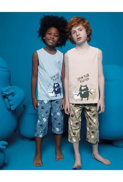 Donella Baskılı Erkek Çocuk Kapri Pijama Takımı - 11536