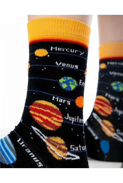 Socks Concept Gezegen Desenli Soket Çorap