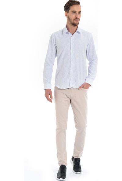 Morven Mersus Slim Fit Gömlek Beyaz