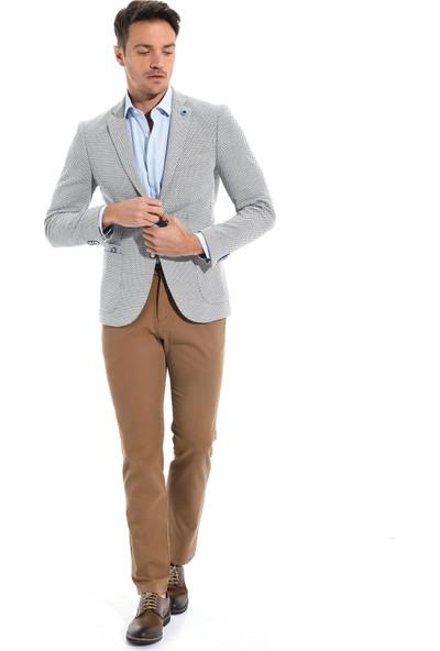 Morven Cotton Trend Slim Fit Ceket Lacivert