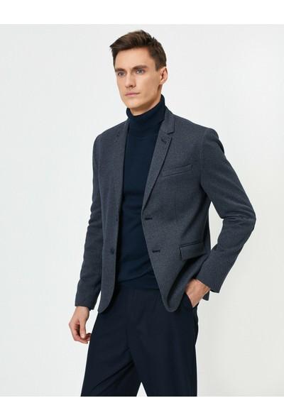 Koton Erkek Cep Detaylı Dügmeli Blazer Ceket