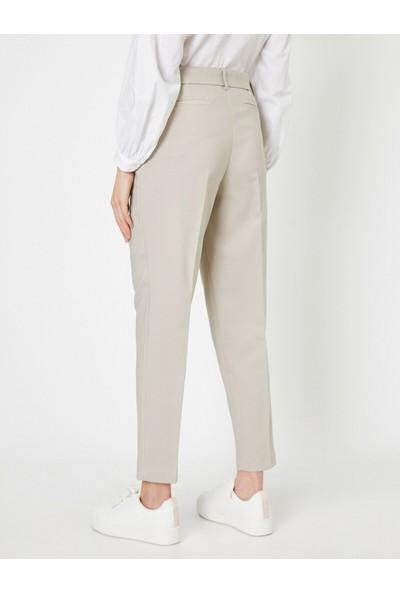 Koton Kadın Kemer Detaylı Yüksek Bel Pantolon