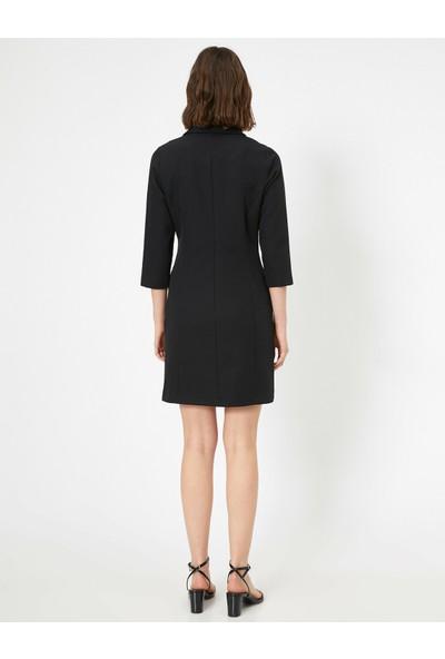 Koton Kadın Siyah Ceket Elbise