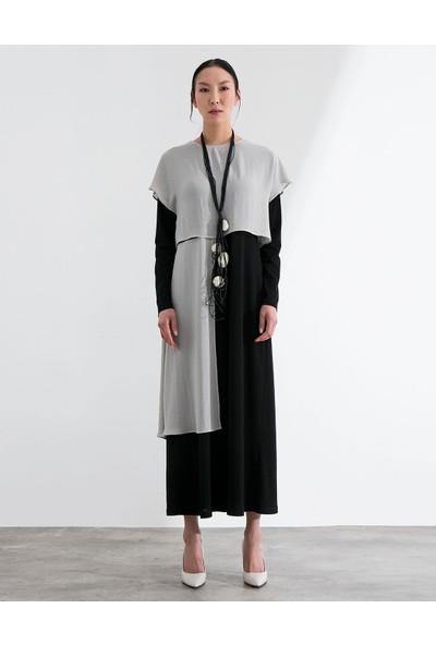 Al-Marwah Kadın Elbise BLK5148 Gri