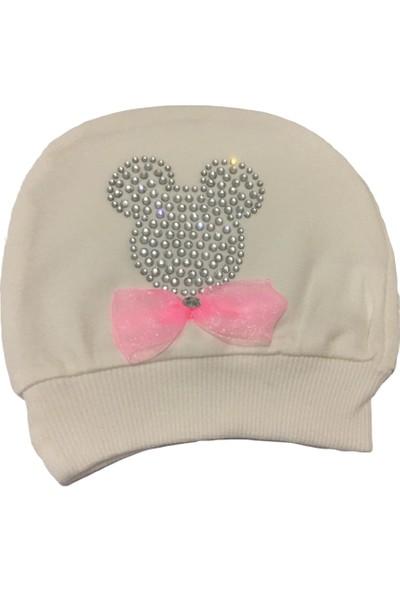 Akyüz Bebe Mikili Kız Bebek Şapka