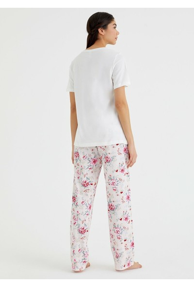 Suwen Belis Pijama Takımı - Ekru M