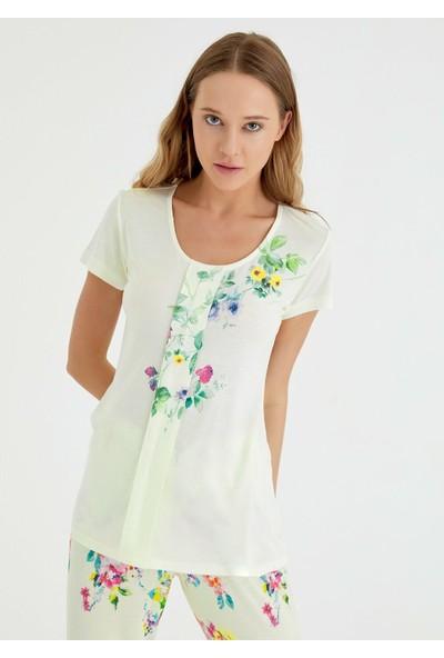 Suwen Meli Pijama Takımı - Sarı S