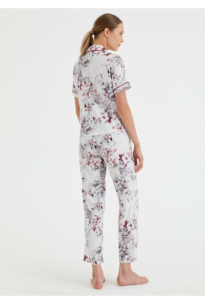 Suwen Summer Night Maskulen Pijama Takımı - Çiçek Baskılı XL