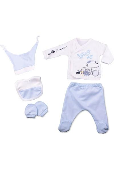 Minizeyn Arabalı Erkek Bebek 5'lı Set