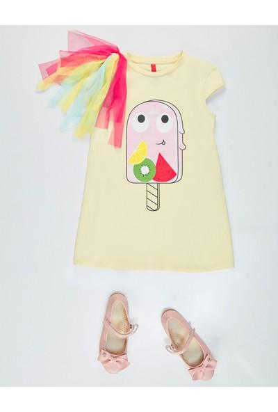 Denokids Frutties Sarı Kız Elbise