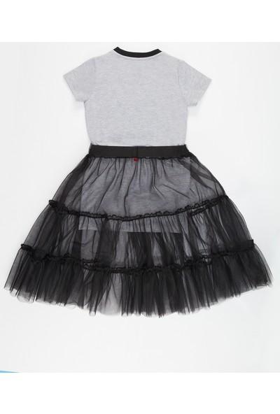 Denokids Mushi Omg Tüllü Kız Elbise