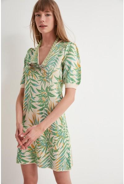 Join Us V Yaka Triko Elbise
