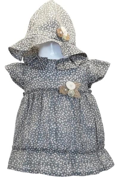 Capps Kız Bebek Elbise Şapka Ikili Set