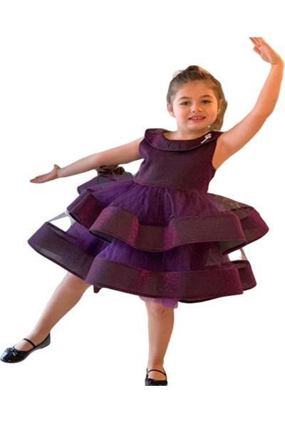 Pumpido Kız Çocuk Abiye Elbise,özel Gün Düğün Balo Kıyafeti Özel Üretim 3 Renk