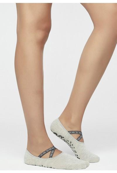 Penti Dark Grey Melange Active Logobant Babet Çorabı