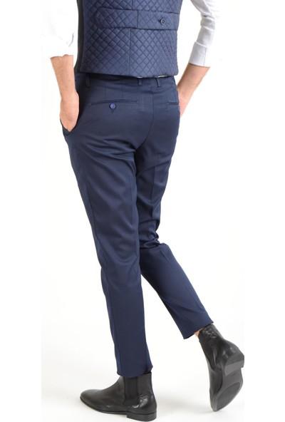 Luppo Club Çift Pili Kumaş Lacivert Erkek Pantolon Istinye