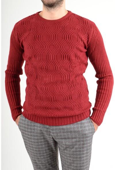 Luppo Club Dalgalı Desen Trend Kırmızı Erkek Kazak