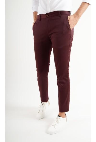 Luppo Club Günlük Kumaş Bordo Erkek Pantolon Salacak
