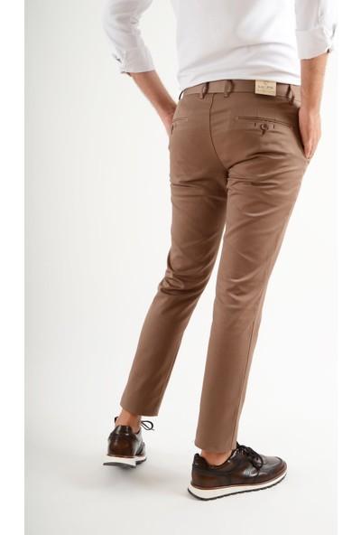 Luppo Club Günlük Kumaş Sütlü Kahve Erkek Pantolon Salacak